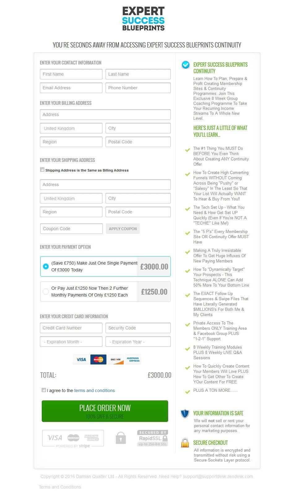 infusionsoft order forms