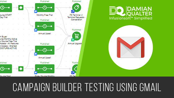Infusionsoft campaign builder testing using Gmail