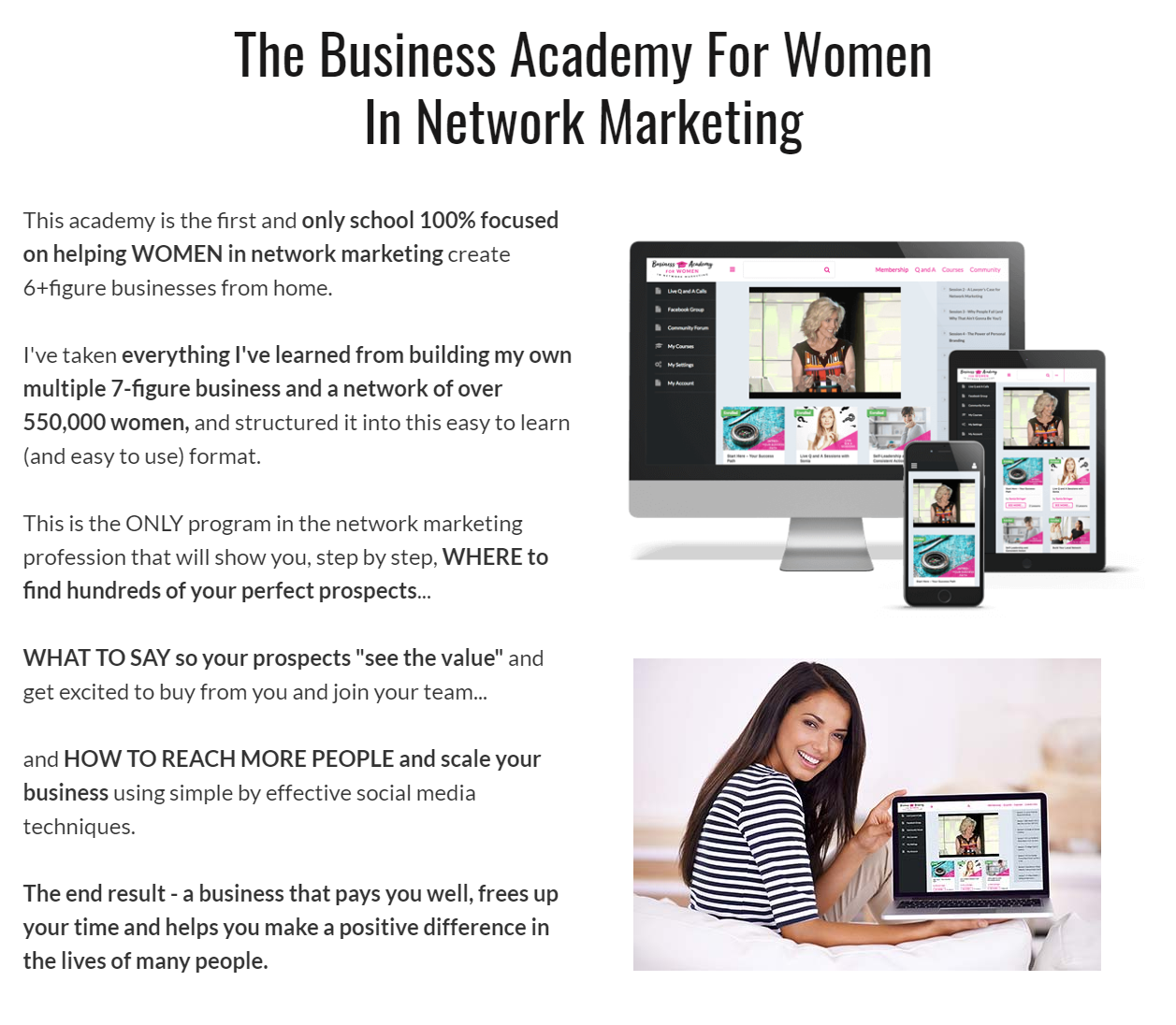 membership websites, bizacademyforwomen.com