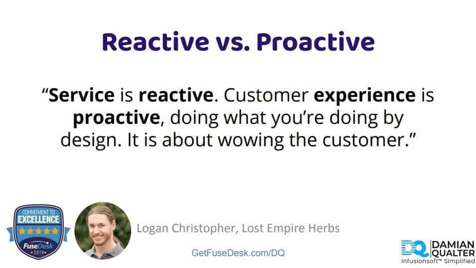 reactive v proactive support
